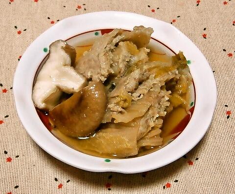 圧力鍋で、白菜のミルフィーユ蒸し