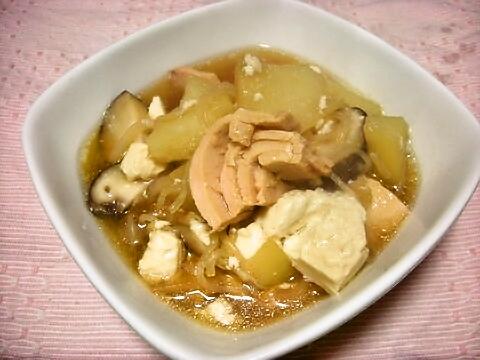 ツナじゃが豆腐