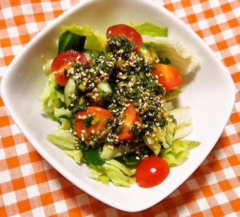ネギドレッシングのサラダ