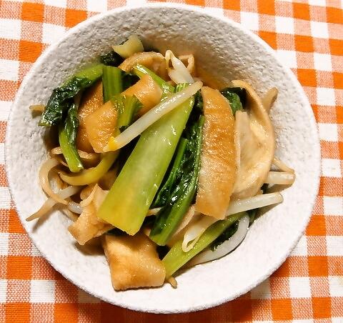小松菜と焼麩の煮浸し
