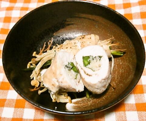 鶏胸肉のエノキロール