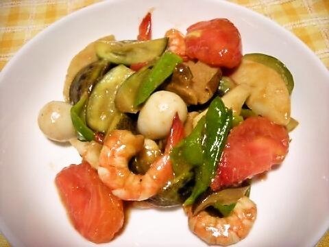 夏野菜八宝菜