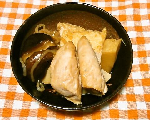タケノコとささみの煮物
